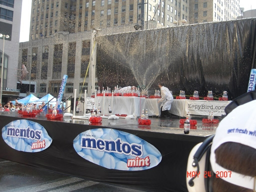 Mentos world record